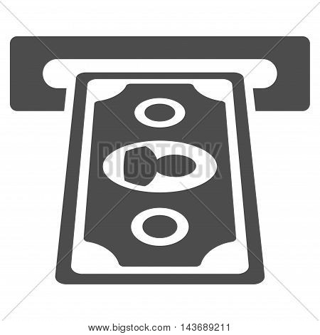 Payment Terminal icon. Vector style is flat iconic symbol with rounded angles, gray color, white background.