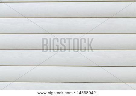 House siding. White plastic panel siding texture.