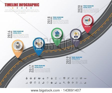 Vector Timeline. Timeline Infographic. Company Timeline. Timeline With Milestones. Timeline Template