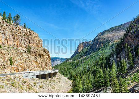 Canyon Near Mammoth Hot Springs