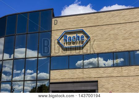 Indianapolis - Circa August 2016: Roche Diagnostics U.S. Headquarters. Roche Diagnostics is a Global Leader in Healthcare II