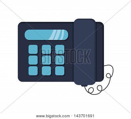 flat design landline telephone icon vector illustration