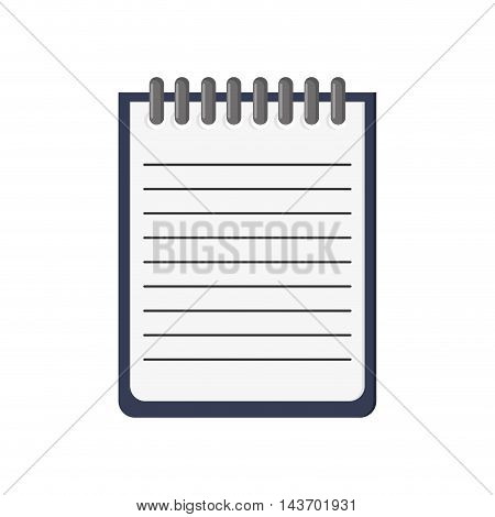 flat design blank notepad icon vector illustration