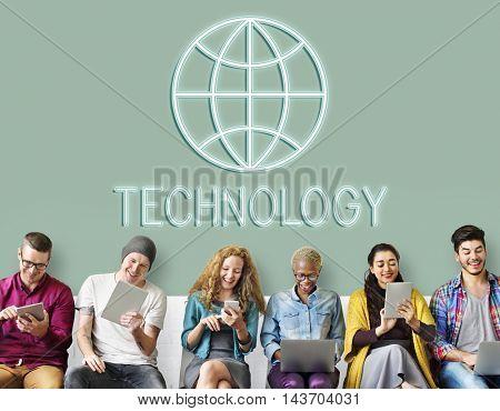 Global Worldwide Connection World International Concept