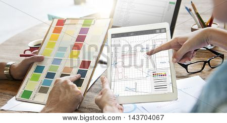 Architecture Blueprint Design Engineering Structure Concept