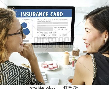 Hospital Insurance Card Identification Data Information Accident Concept