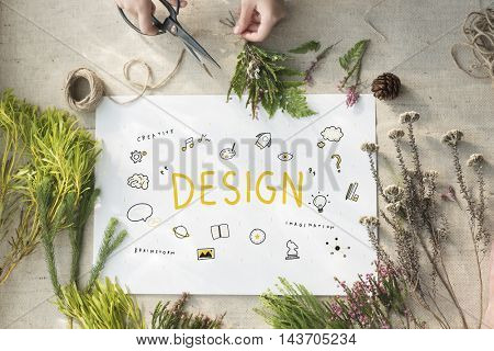 Creation Ideas Light Blue Imagination Arts Development Concept