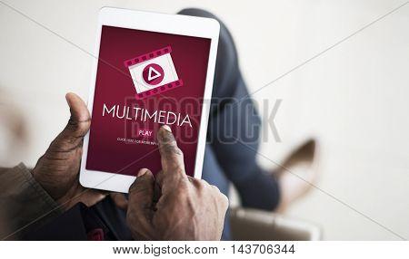 Multimedia Filmstrip Icon Entertainment Concept