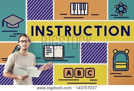 Instruction Knowledge Education Training Coaching Concept