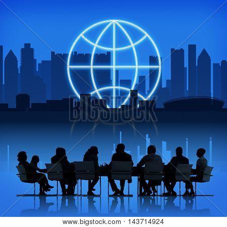 Globe Global Business Planet Shape Concept