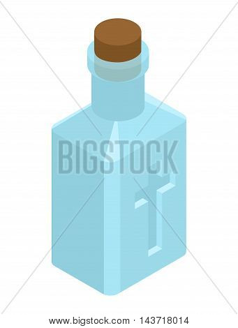 Holy Water In Bottle. Religious Symbol. Magic Liquid