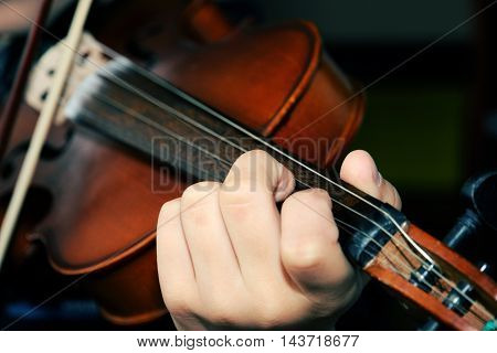 Violinist Playing