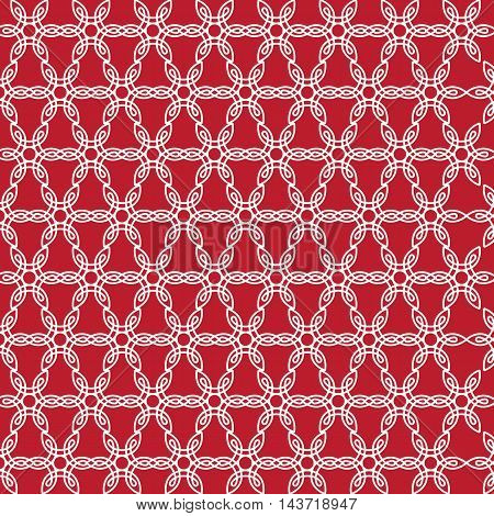 Seamless background in black and white. Geometric ornament pattern with repeating elements.