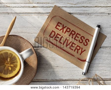 Worldwide Shipping Delivery Express Grapahic Concept