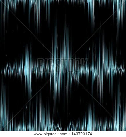 Seamless texture with blue vibration sound. Vector background for your creativity