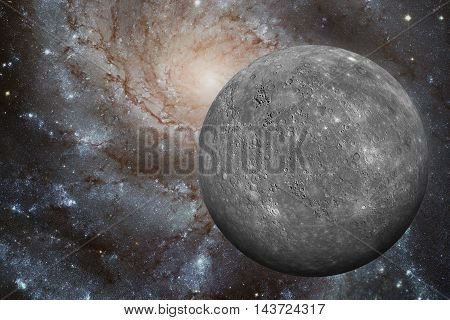 Solar System - Mercury. It Is The Smallest And Closest To The Sun Of The Eight Planets In The Solar