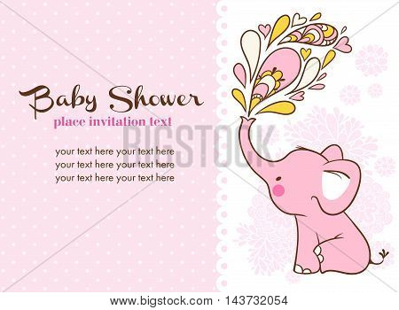 Children vector illustration with elephant and place for your text.