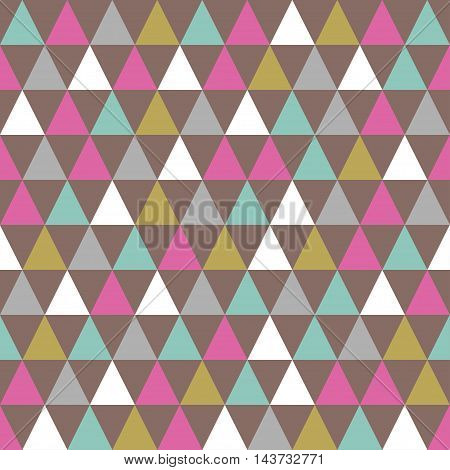 Abstract color pattern of geometric shapes. Triangles. Retro triangle background.