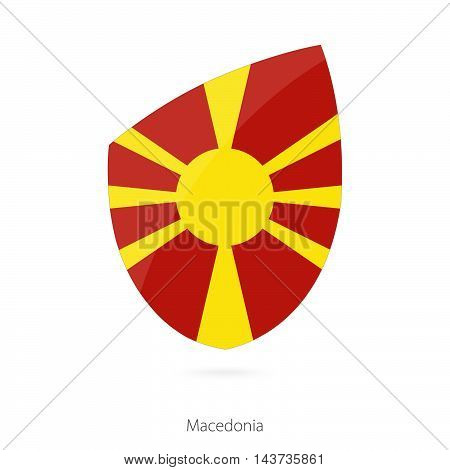 Flag Of Macedonia. Macedonian Rugby Flag.