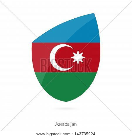Flag Of Azerbaijan In The Style Of Rugby Icon.