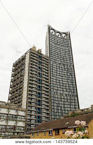 LONDON ENGLAND - JULY 8 2016: The Strata nicknamed