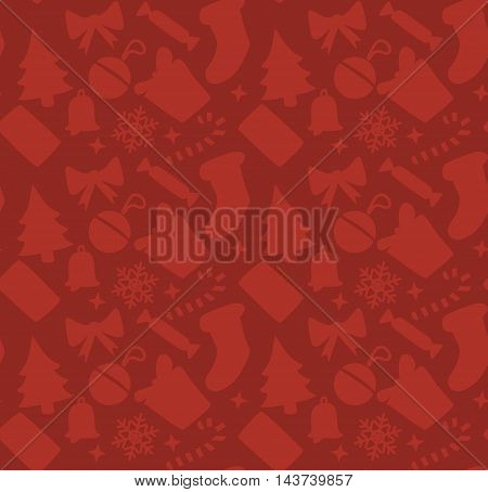 red square christmas background. Vector seamless wallpaper
