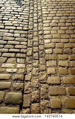 Background Texture Of Old Cobblestones
