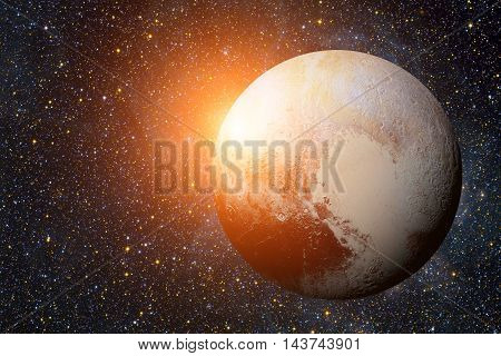 Solar System - Pluto. It Is A Dwarf Planet In The Kuiper Belt, A Ring Of Bodies Beyond Neptune. It I