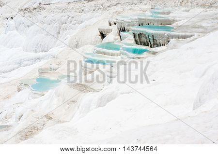 Pamukkale In Turkey - Natural Travertine Pools