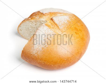 Bread without slice isolated on white background