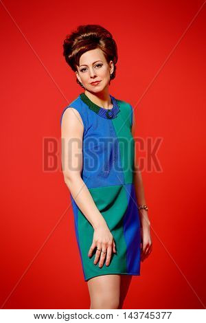Portrait of a beautiful mature woman with evening make-up and hairstyle.