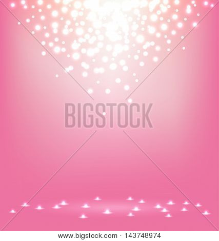 Abstract magic Light on sweet pink background