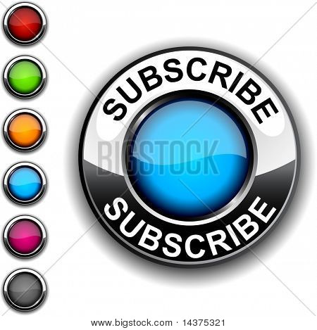 Subscribe  realistic button. Vector.