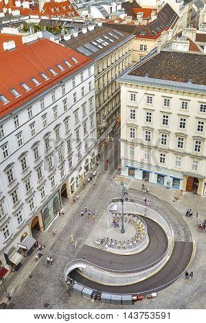 Aerial View Of The Stephansplatz In Vienna, Austria.