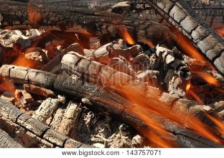 Burnig Camp Fire