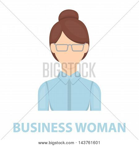 Business woman icon cartoon. Single avatar, peaople icon from the big avatar collection.
