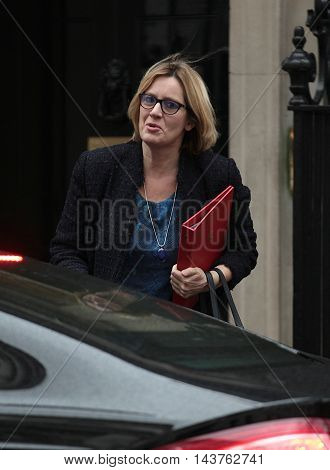 LONDON, UK, FEB 02, 2016: Amber Rudd MP seen arriving for a cabinet meeting in Downing Street