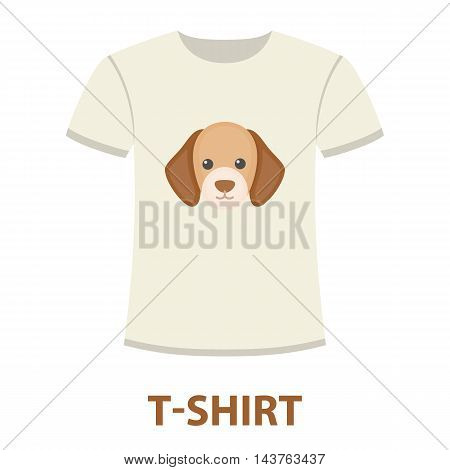shirt I love dogs vector illustration icon in cartoon design