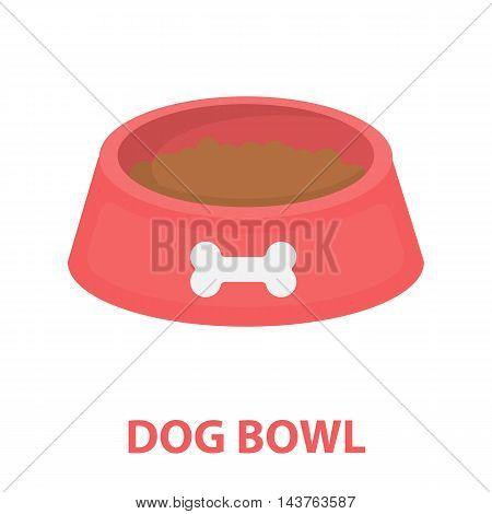 Dog bowl vector illustration icon in cartoon design