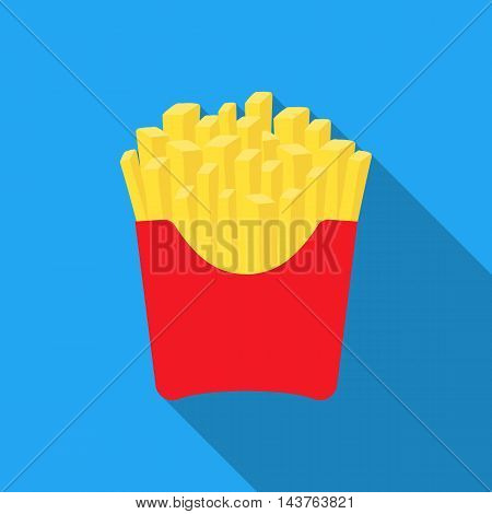 French fries vector illustration icon in flat design