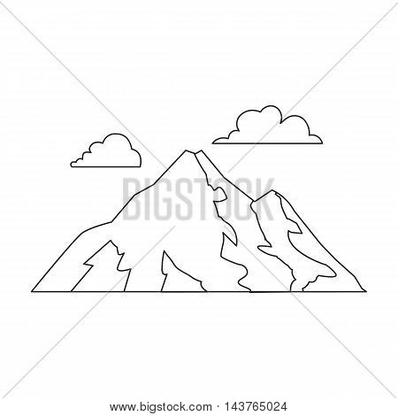 Mountain vector illustration icon in line design
