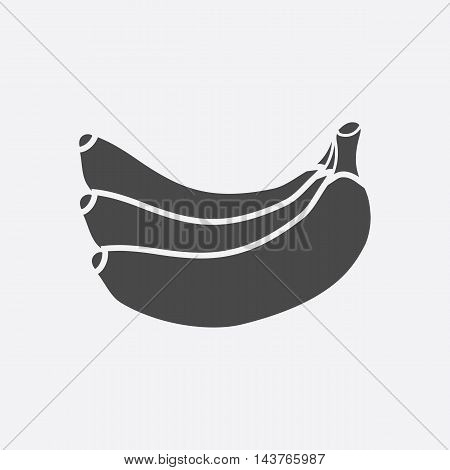Banana icon black. Singe fruit icon from the food collection.