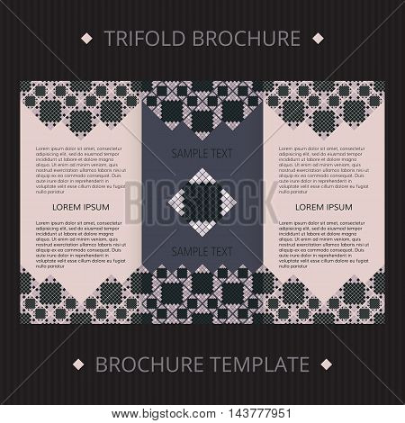 Trifold vector cards. Vector template brochure for design.