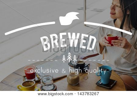 Brewed Cafe Coffee Breakfast Chilling Out Concept