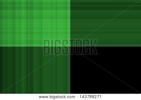 Illustration of green and black smudged squares