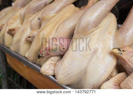 chicken, Chicken market, domestic fowl, food, hen, poultry, Raw materials chicken