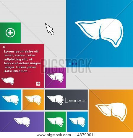 Liver Icon Sign. Buttons. Modern Interface Website Buttons With Cursor Pointer. Vector