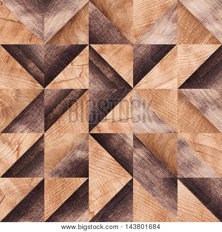 Wooden Background, Squares Abstract Pattern