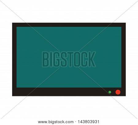 flat design flat screen tv icon vector illustration