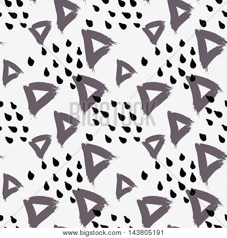 Abstract Gray Triangle With Dots